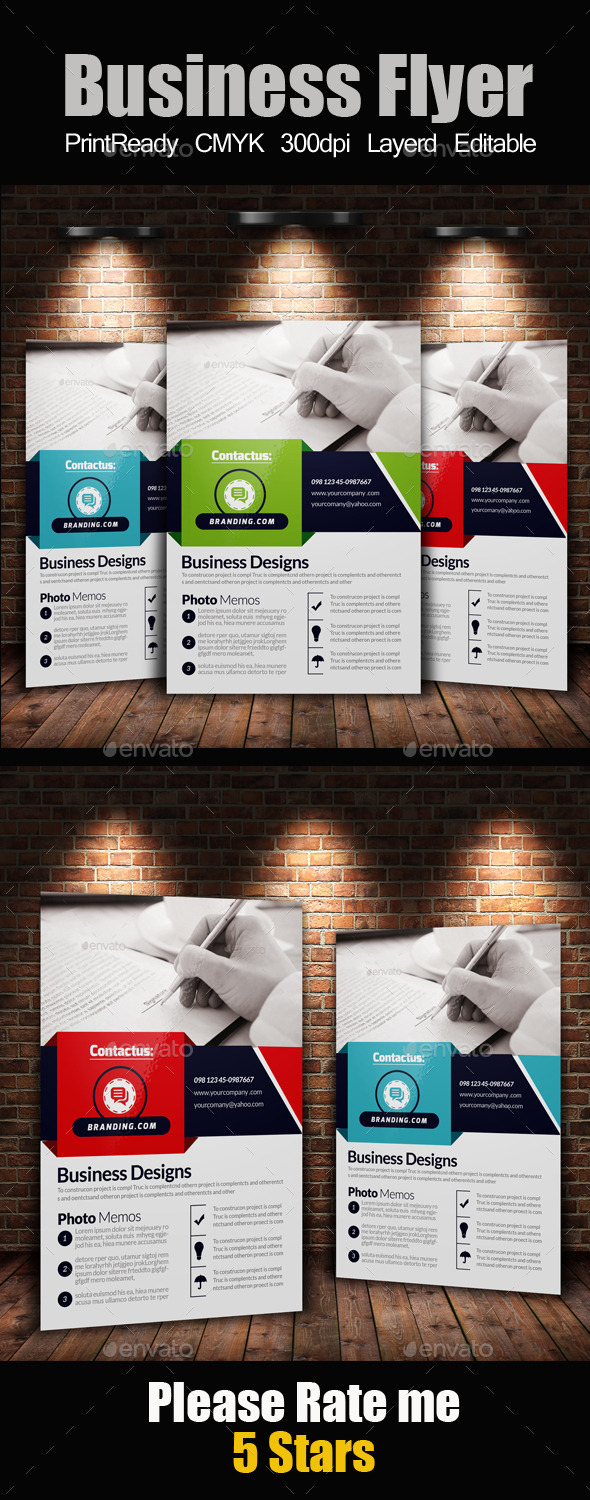 GraphicRiver A4 Business Flyer Template 11247883