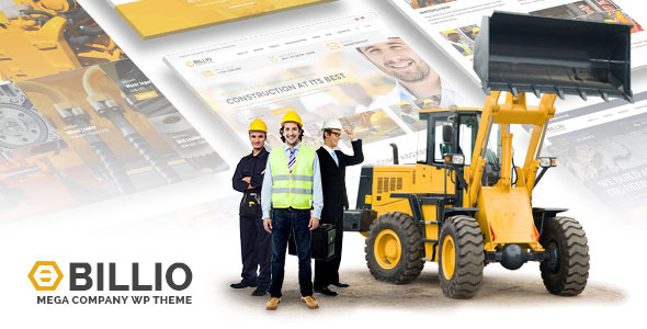 billio mega company wordpress theme