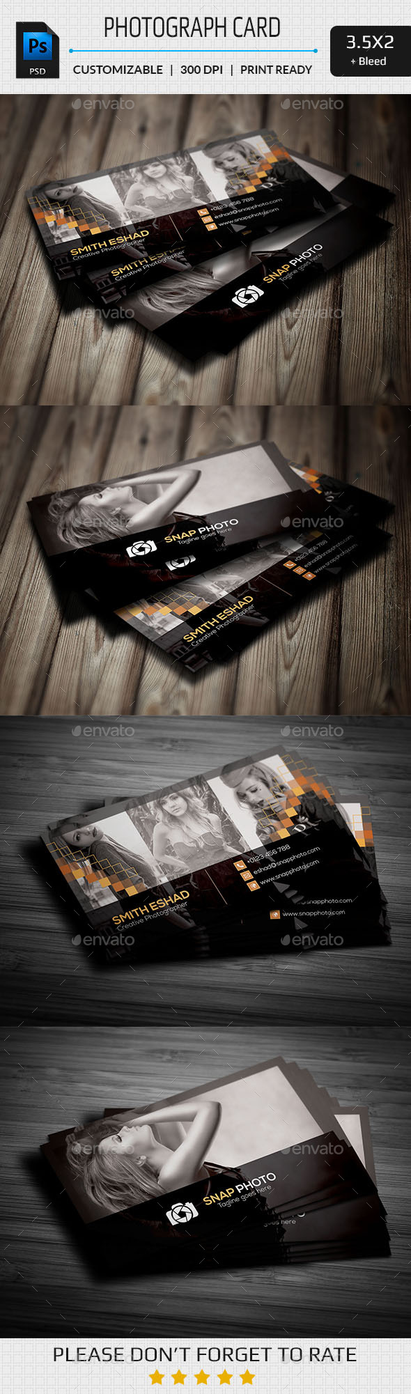 GraphicRiver Professional Photography Business Card 11244063