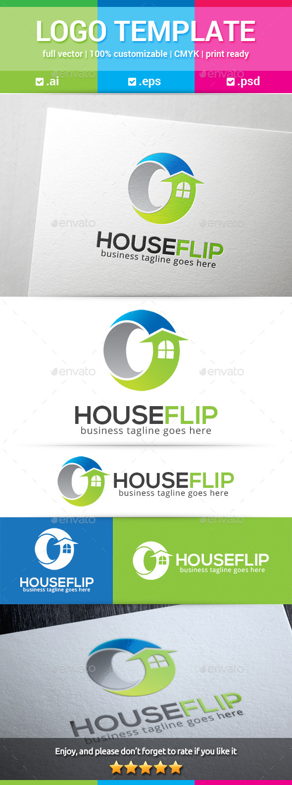 GraphicRiver House Flip Logo 11248835