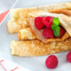 Homemade pancakes with raspberries and mint - PhotoDune Item for Sale