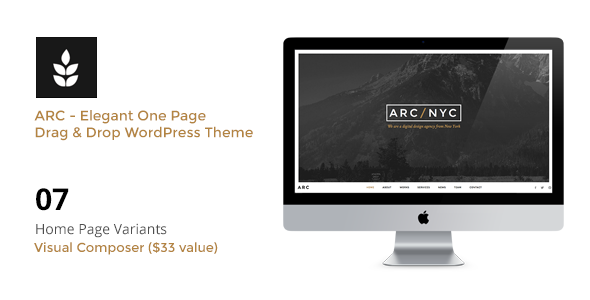 ThemeForest ARC Elegant Creative One Page WordPress Theme 11160973