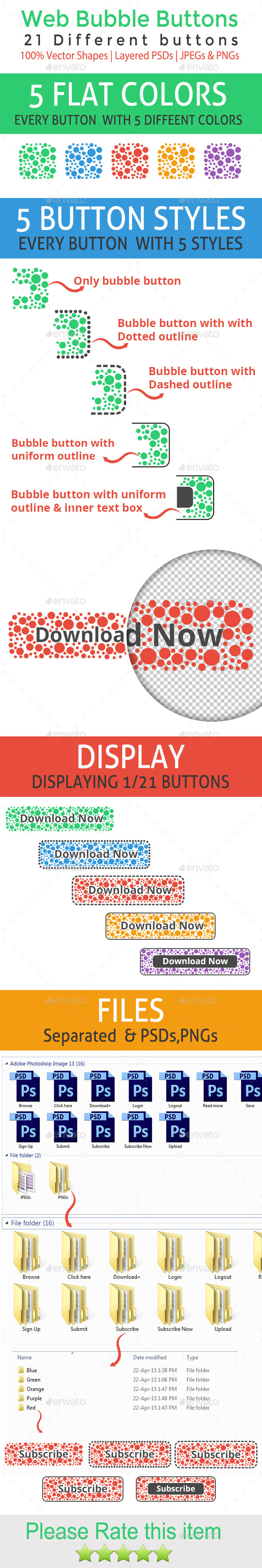 GraphicRiver Web Bubble Buttons 11239349