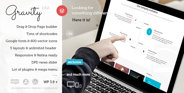 Gravity - Multi-Purpose Creative WordPress Theme