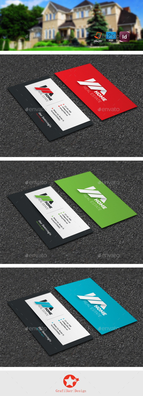GraphicRiver Real Estate Business Card Templates 11249369