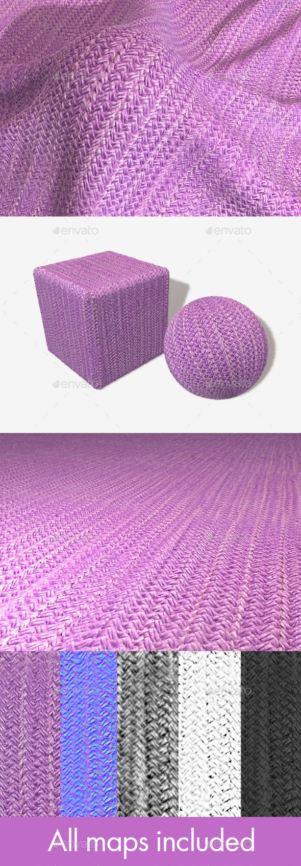Thick Knitted Fabric Seamless Texture