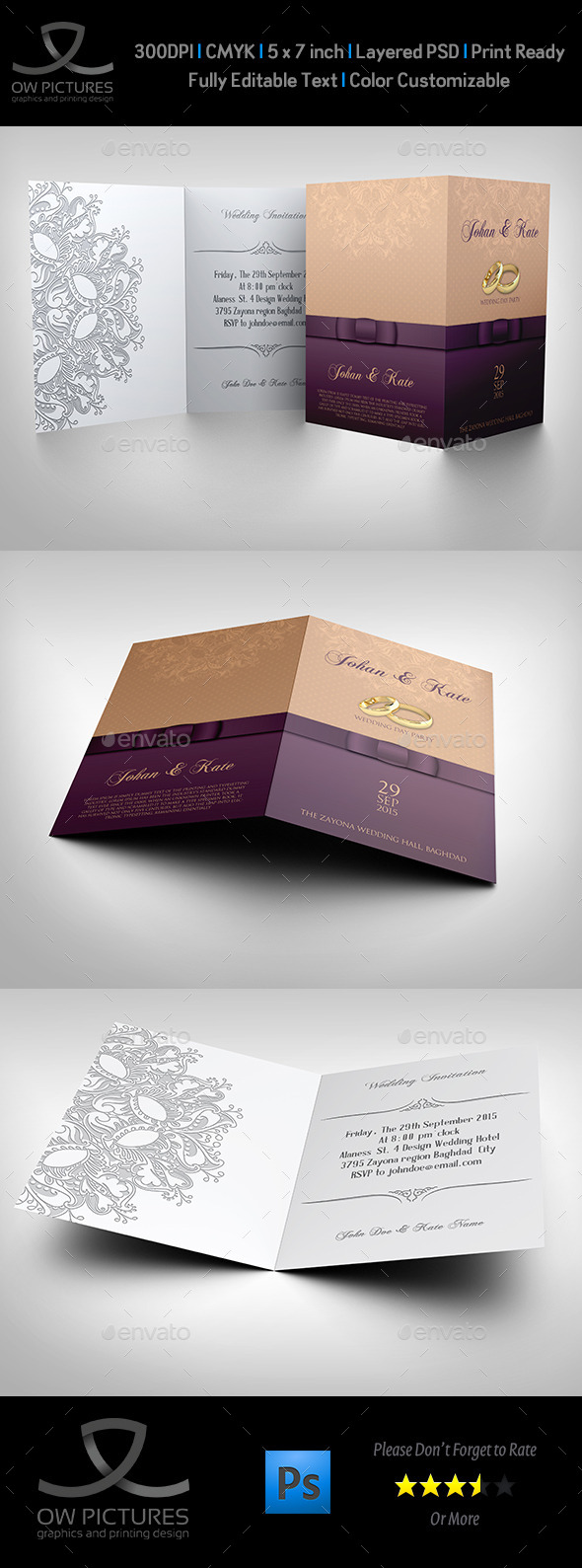 GraphicRiver Wedding Invitation Card Template Vol.10 11249866