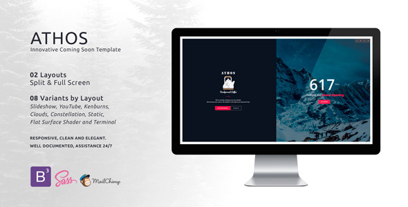 ThemeForest ATHOS Innovative Coming Soon Template 11250109