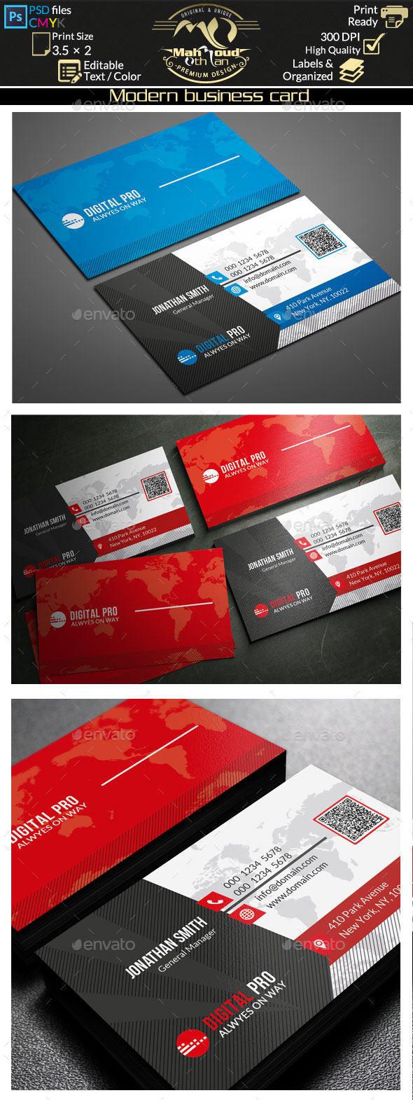GraphicRiver Modern Business Card 11250293