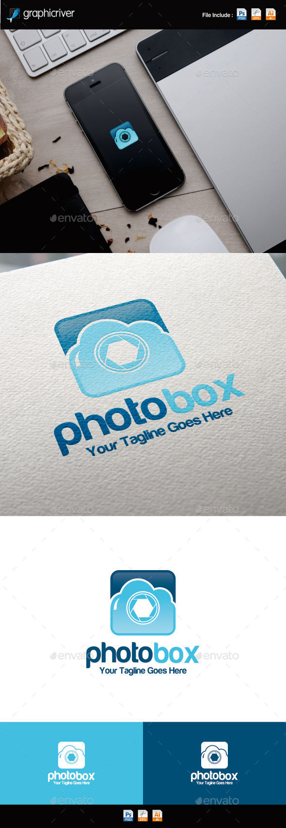 GraphicRiver PhotoBox Logo Template 11250295