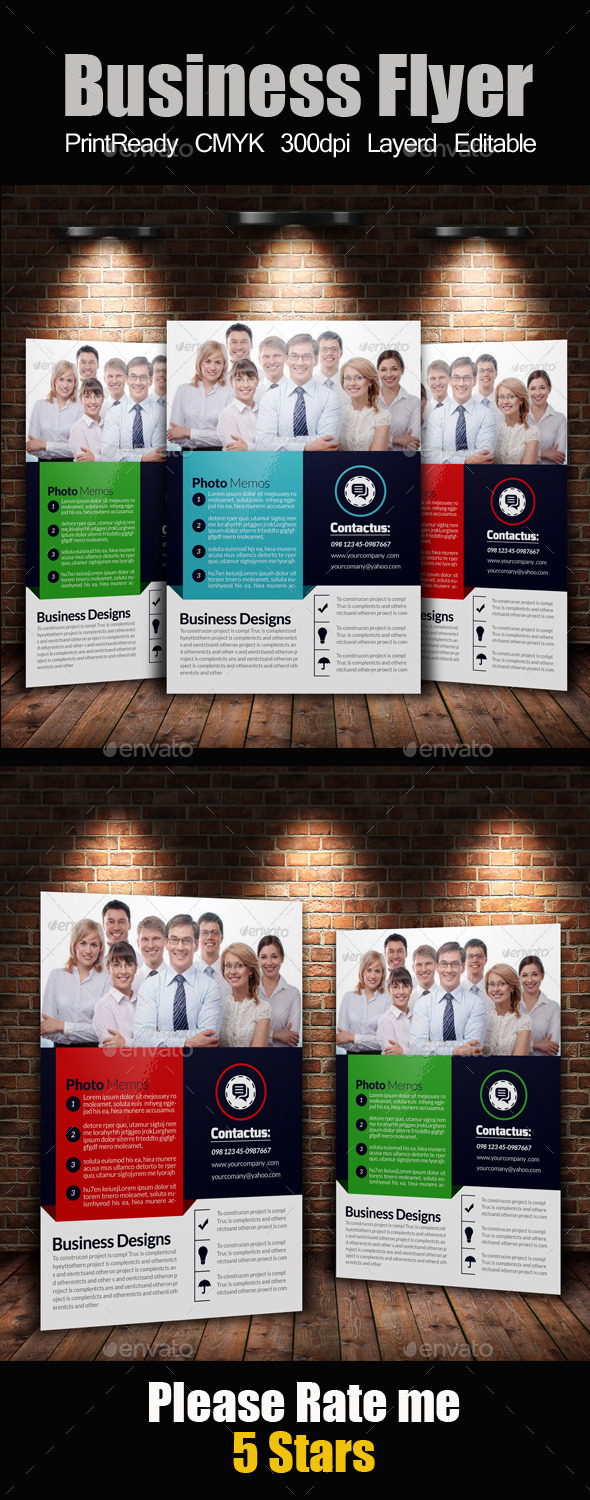 GraphicRiver A4 Business Flyer Template 11250367