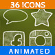 36 Animated Icons Pack - VideoHive Item for Sale