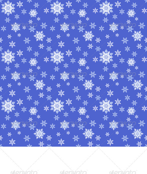 Vector Seamless Blue Christmas Ornament - Christmas Seasons/Holidays