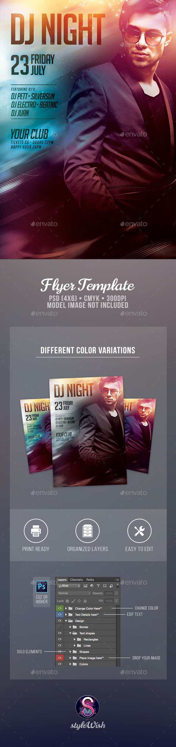 Dj Night Flyer - Clubs & Parties Events