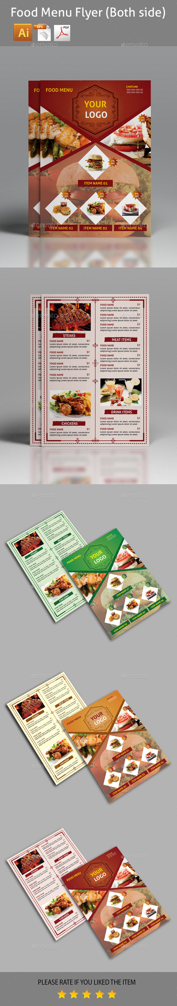GraphicRiver Food Menu Flyer 11250613