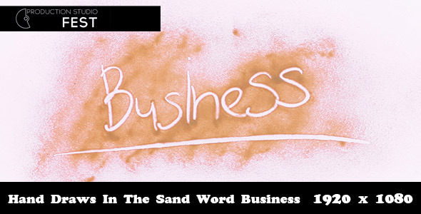 Hand Draws In The Sand Word Business