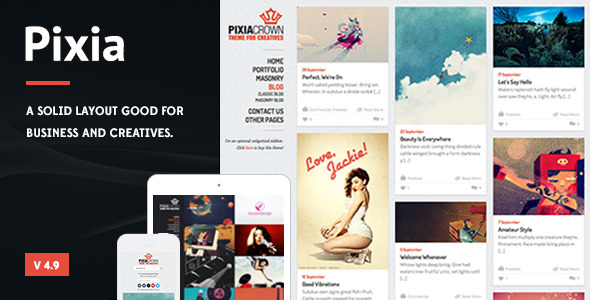 Pixia - Showcase WordPress Theme