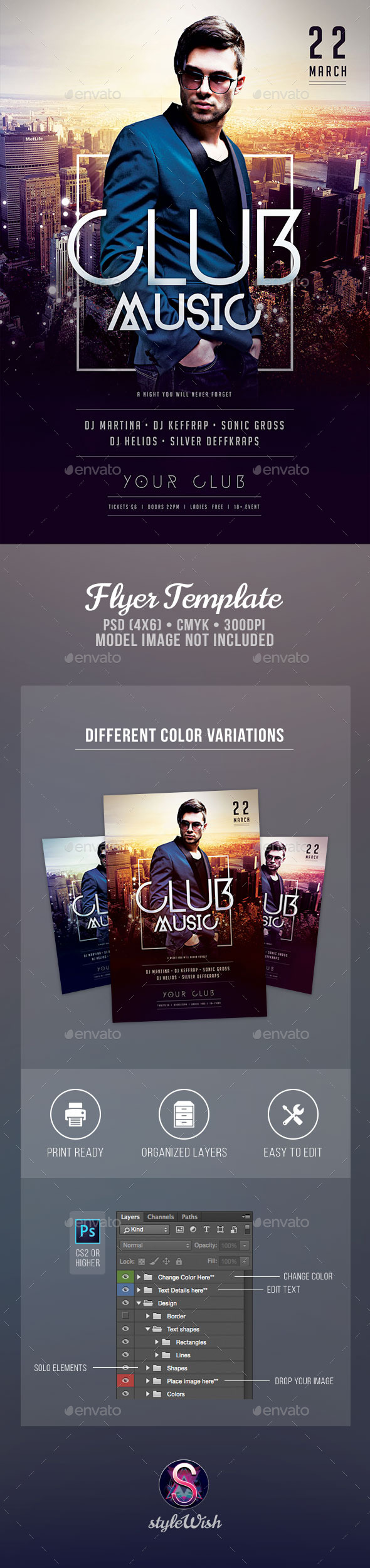 Club Music Flyer - Clubs & Parties Events