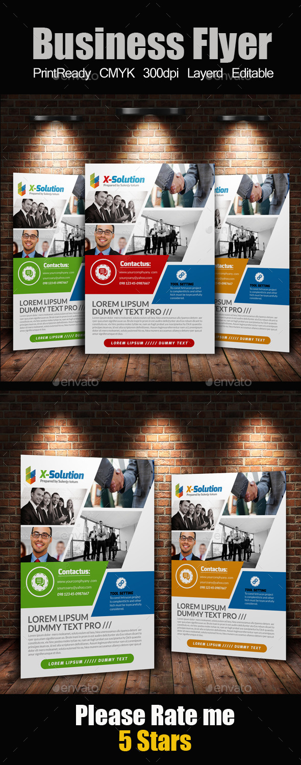 GraphicRiver A4 Business Flyer Template 11250774