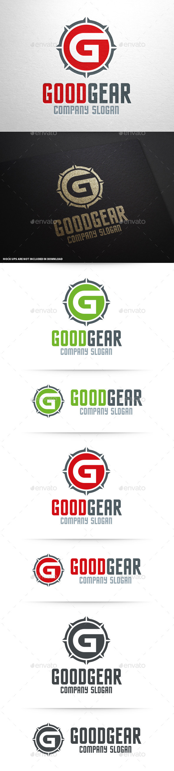 GraphicRiver Good Gear Letter G Logo 11250889