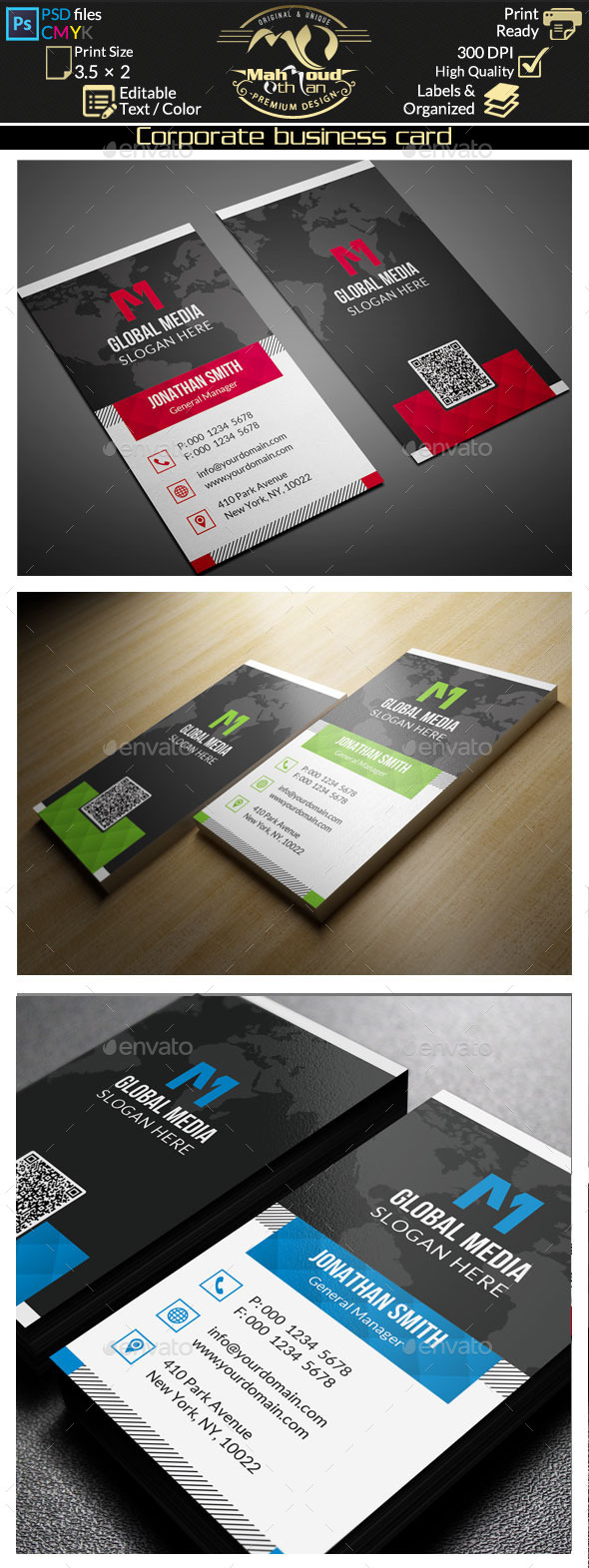 GraphicRiver Corporate Business Card 11250906