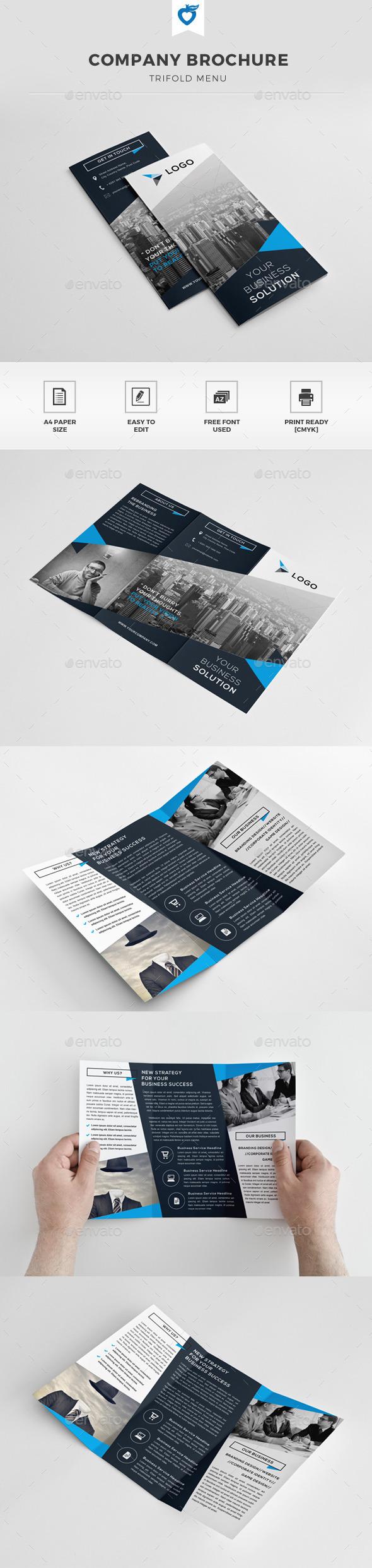 GraphicRiver Company Trifold Brochure 11251088
