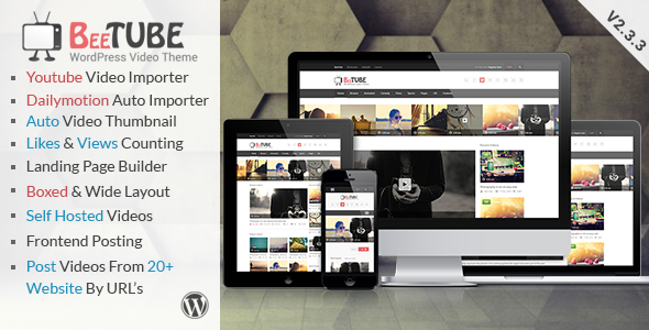 BeeTube Video WordPress Theme - Blog / Magazine WordPress