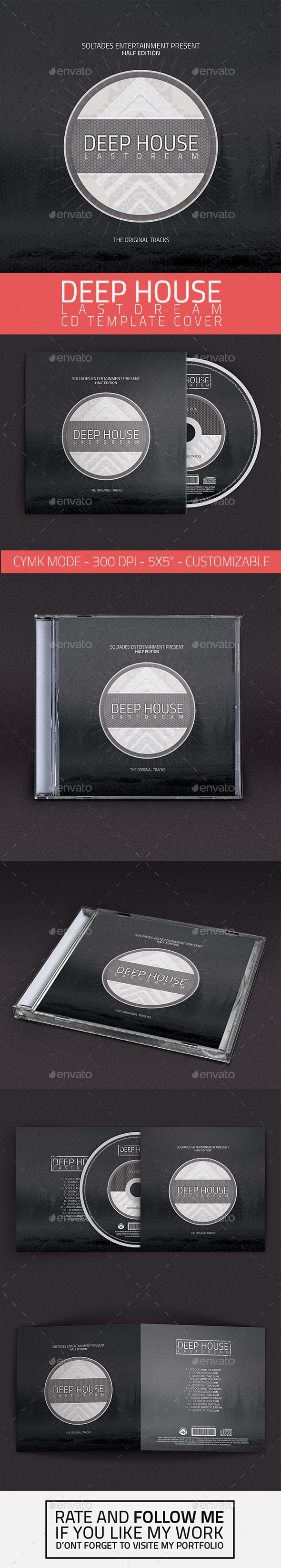 GraphicRiver Deep House CD Cover Template 11251275