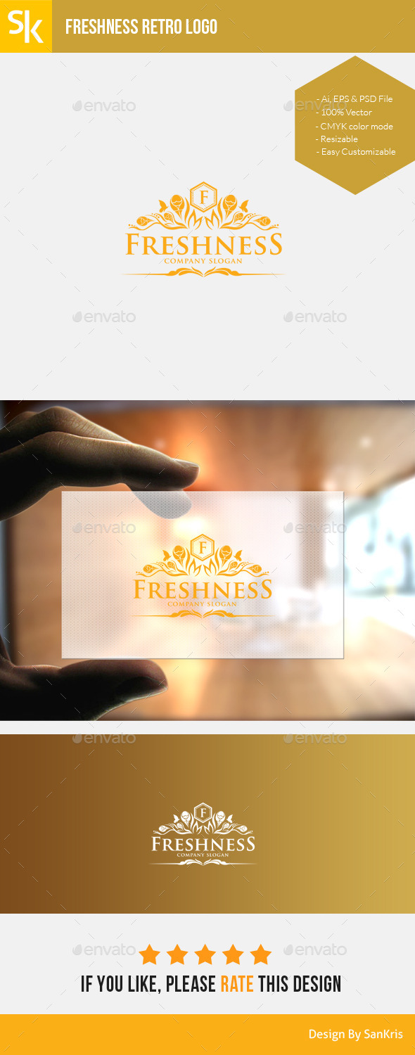 GraphicRiver Freshness Retro Logo 11251431