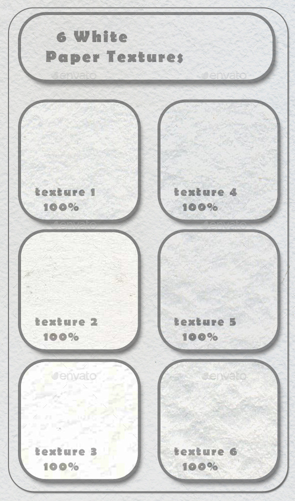 GraphicRiver 6 White Paper Textures 11251442