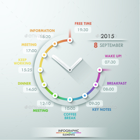 GraphicRiver Infographic Timeline Template With Clock 11251582
