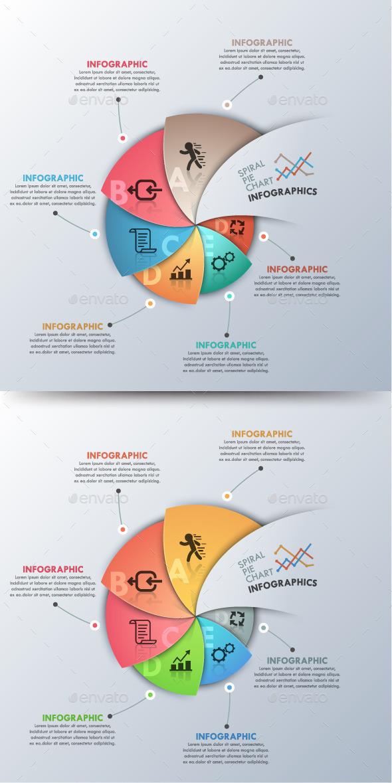 GraphicRiver Modern Infographic Spiral Pie Chart 11251625