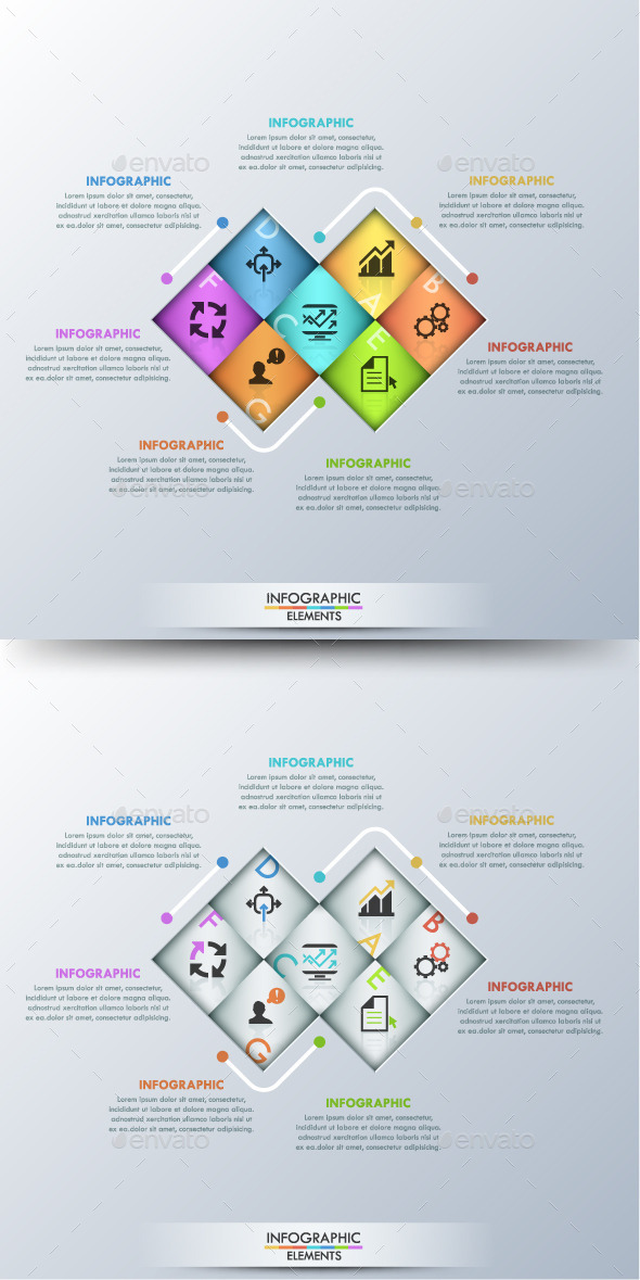 GraphicRiver Modern Infographic Paper Template 2 Colors 11251670