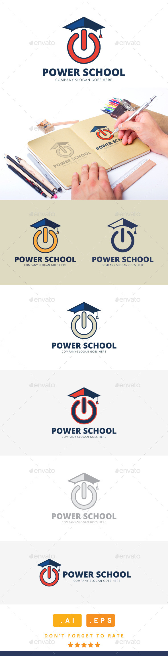 GraphicRiver Power School Logo 11251687
