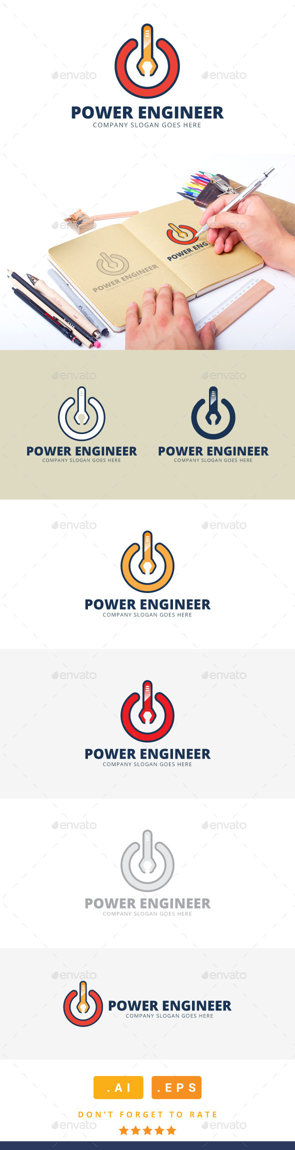 GraphicRiver Power Engineer Logo 11251756