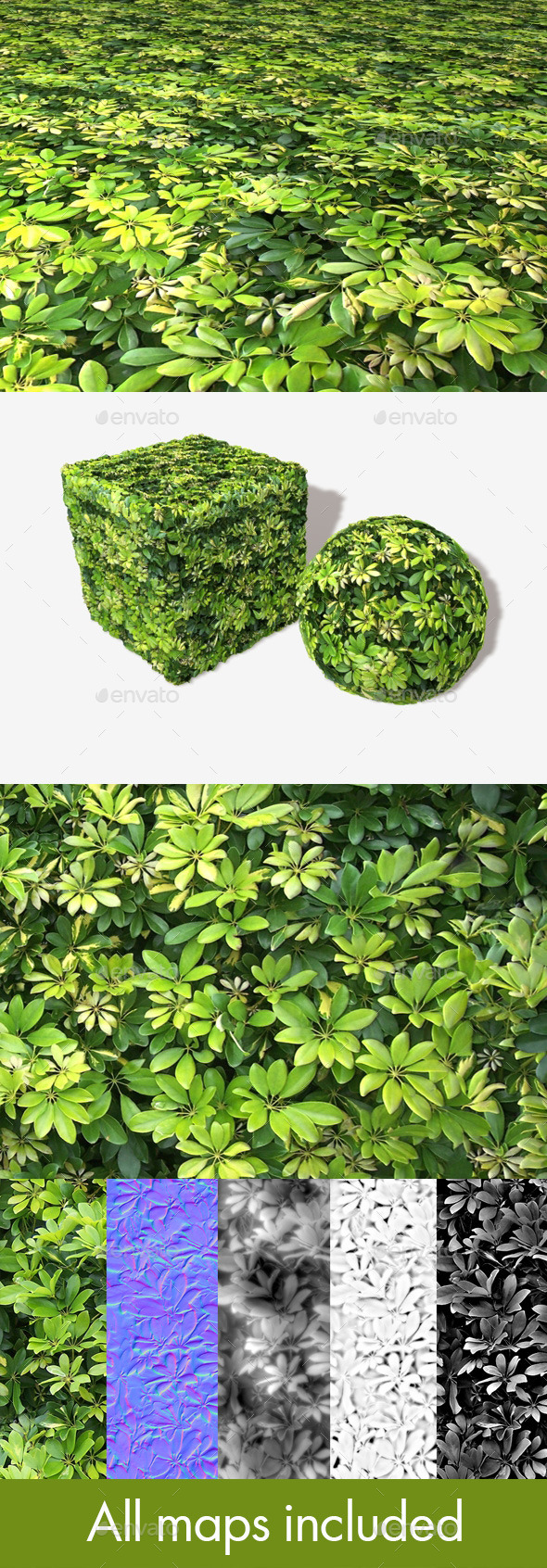3DOcean Small Jungle Leaves Seamless Texture 11251777