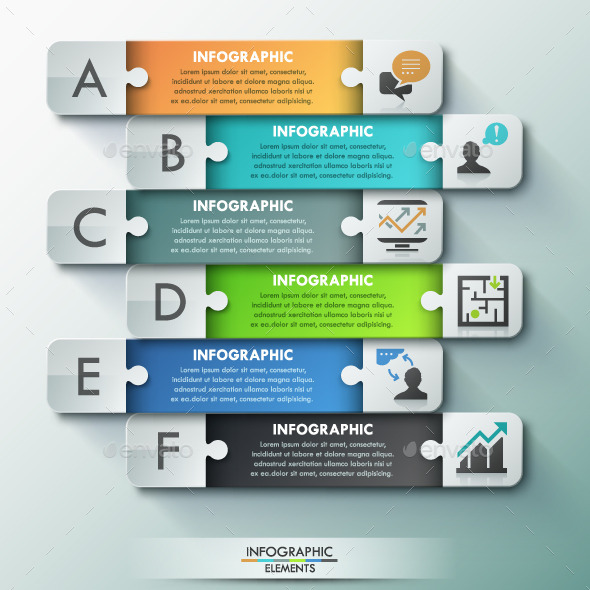 GraphicRiver Modern Infographic Puzzle Template 11251792