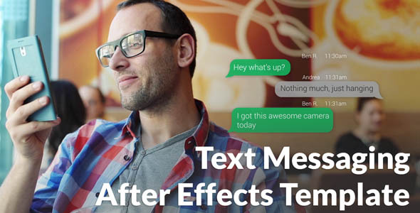 Videohive Text Messaging with Photo and Video Options  11251793 - shareDAE