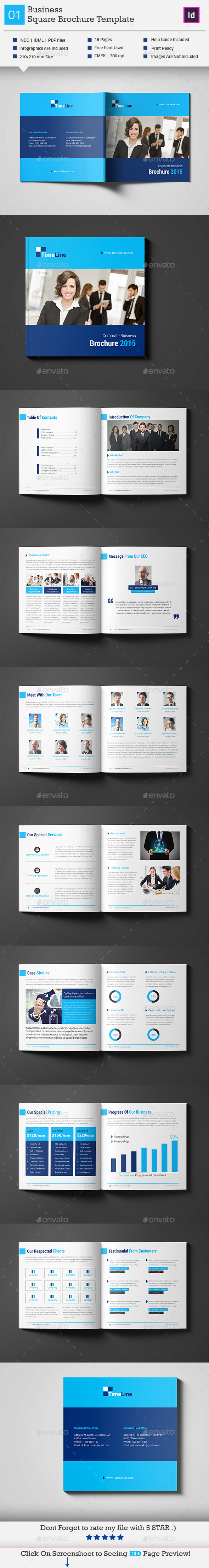 GraphicRiver Business Square Brochure Template V2 11251825