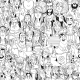 Seamless Pattern From Crowd Of People - GraphicRiver Item for Sale