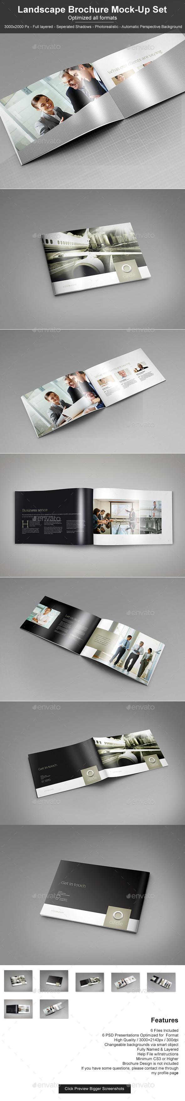 GraphicRiver Landscape Brochure Mock-Up Set 11251897