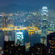 Night view of Hong Kong skyline and Victoria Harbor - PhotoDune Item for Sale
