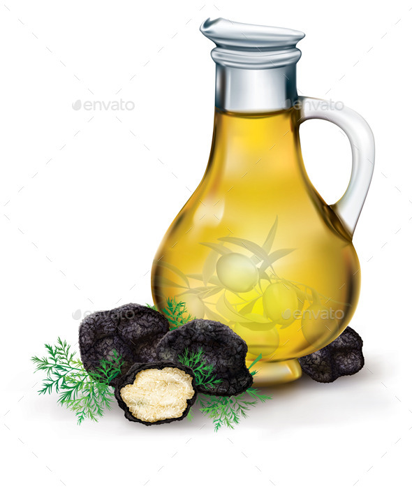GraphicRiver Olive Oil and Black Truffle 11252309
