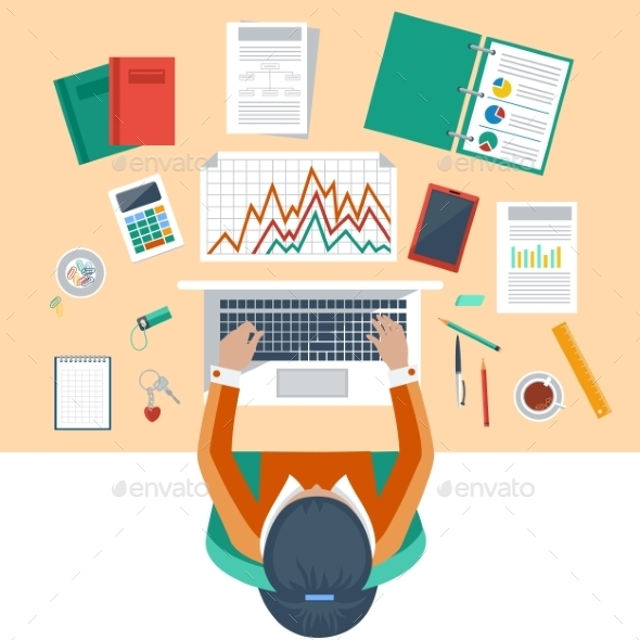 GraphicRiver Business Woman Working 11252324