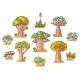 Cartoon Trees Set - GraphicRiver Item for Sale