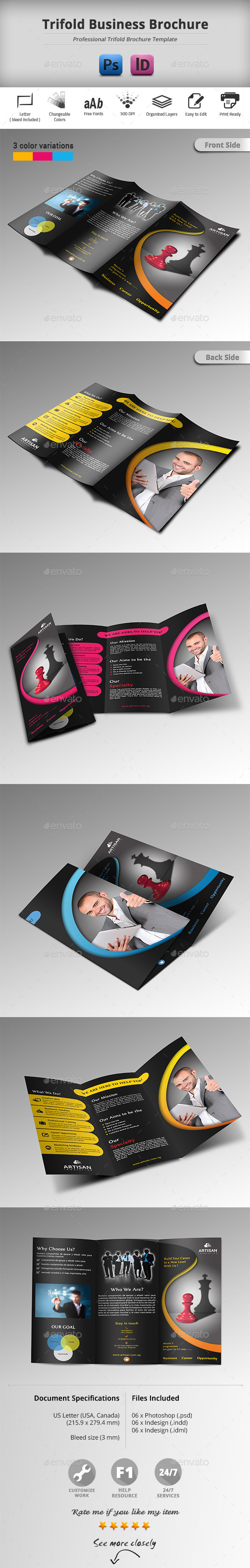 GraphicRiver Trifold Business Brochure 11252337