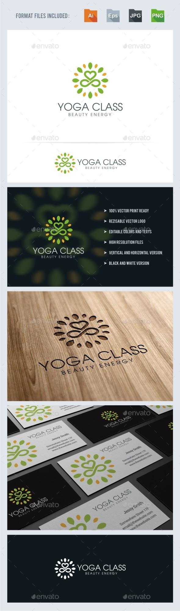 GraphicRiver Yoga Class Logo Template 11252485