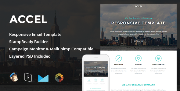 ThemeForest Accel Responsive Email & StampReady Builder 11252638