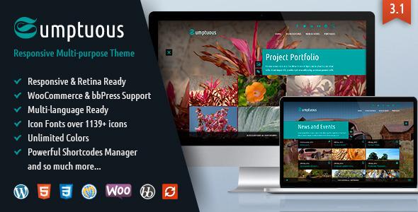 Sumptuous - Responsive Multi-purpose Theme - Photography Creative