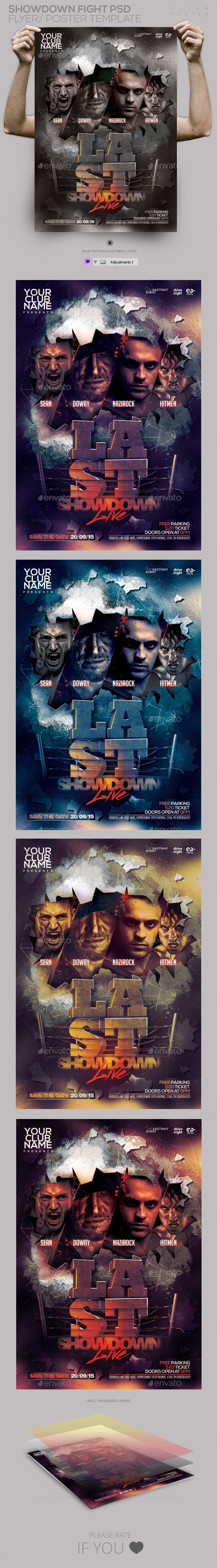 GraphicRiver Showdown Fight PSD Flyer Poster 11252809